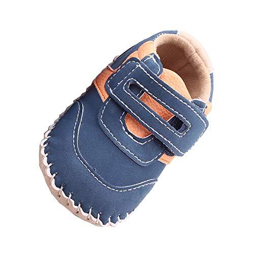 Baby Jungen Schuhe Sneaker Atmungsaktiv Turnschuhe PU Klettverschluss Lauflernschuhe Krabbelschuhe für Frühling Sommer OSYARD
