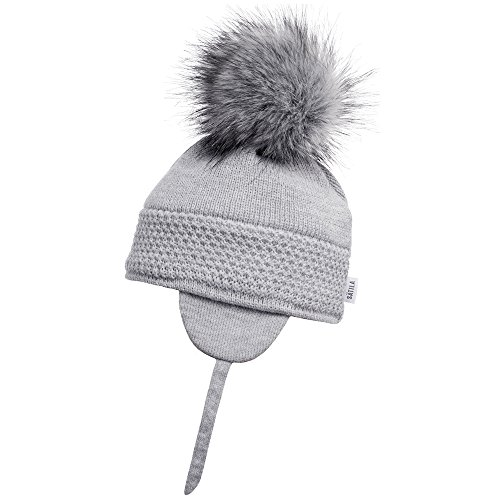 43549e4cbde Satila of Sweden Grey  Daisy  Faux Fur Pom-Pom Hat ...