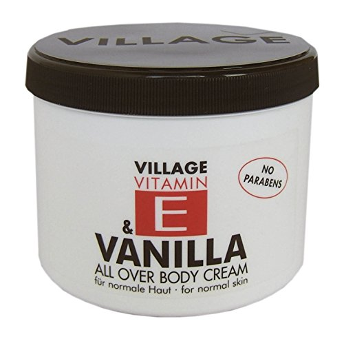 Village 9506-05 Crème corporelle à la vitamine E Parfum vanille 500 ml