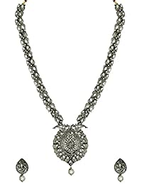 Zaveri Pearls Jewellery Set For Women (Silver)(ZPFK6978)