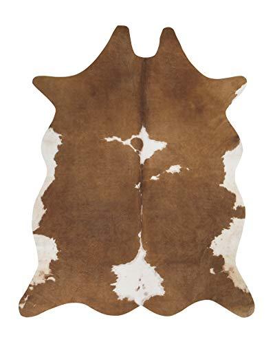 andiamo Kuhfell Teppich Amarillo aus Kunstfell Fellimitat im Fotodruck - creme-braun, 125x155 cm