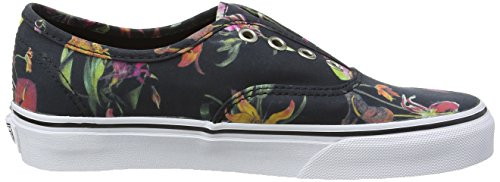 Vans U Authentic Black Bloom, Baskets Basses Mixte Adulte Noir