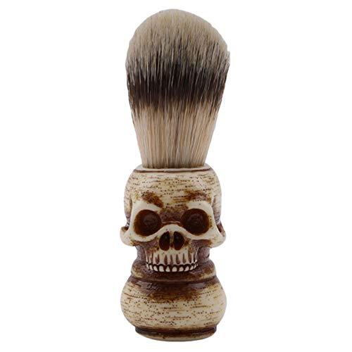 Bartbürste Rasieren Pinsel Männer Rasierpinsel Harz Schädel Kopf Dachs Bart Pinsel Skelett Make-Up Pinsel Barber Tools