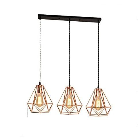 GRFH Modern Iron Diamond Pendant lights Creative Plated Rose Gold Three Head Ceiling Lights Restaurant Bar Stores Clothing Pendant Lamp E27 220V 110V ,