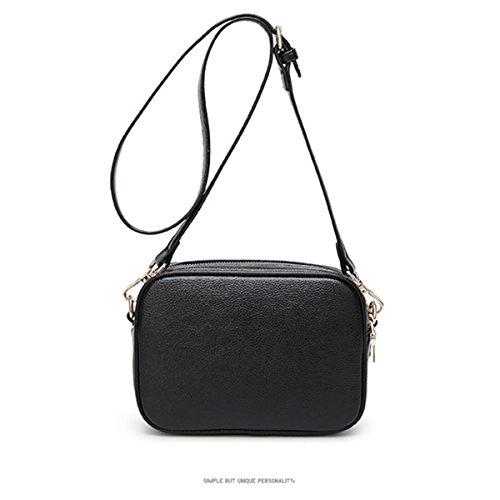 WU ZHI Ladies Autunno Inverno Piccolo Borsa Square Bag Wild Bag Borsa Borsa Black