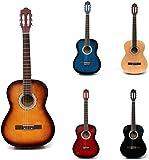 Rio Sunburst 39'' 4/4 Full Size Acoustic Nylon Classical String Guitar Package Pack - New (Sunburst)