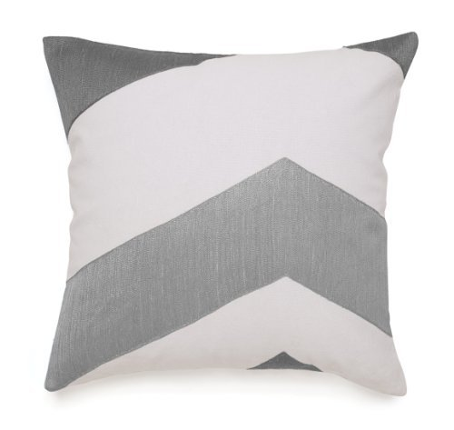 jill-rosenwald-copley-collection-buckley-decorative-pillow-18-by-18-inch-grey-chevron-design-on-whit