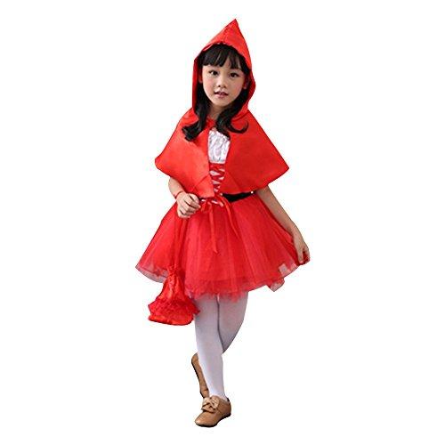 Red Riding Hood Kostüm für Kinder Mädchen M (Red Riding Hood Kostüm Kind)