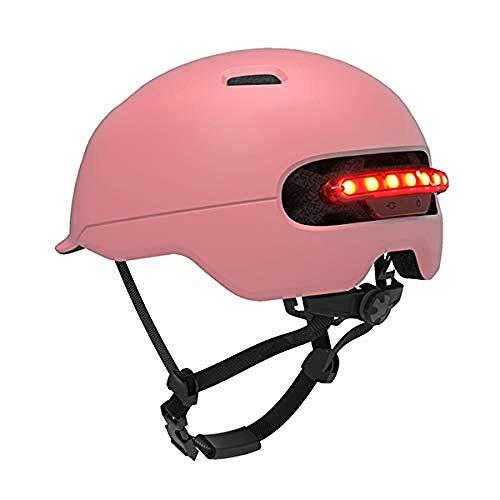 WENZHEN Kinderhelm, Fahrradhelm Mit Visier Schild Led-Licht Für Männer Frauen Einstellbare Erwachsenen Sicherheit Schutz Und Atmungsaktiv M Code M
