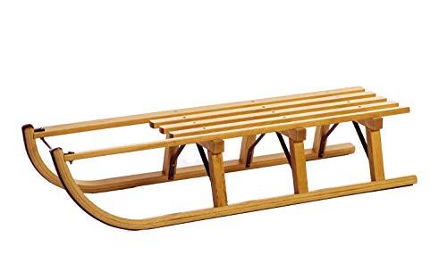 Holzschlitten - Davoser Rodel - 110 cm aus Buchenholz - 3 Böcke