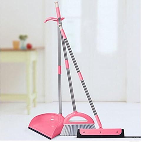 Un balai et un sac à poussière essuie-glace Ensemble de toilette à trois pièces, ensemble rose à trois pièces