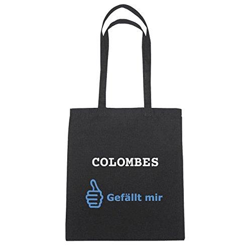 JOllify Colombes di cotone felpato B3308 schwarz: New York, London, Paris, Tokyo Schwarz : Gefällt mir
