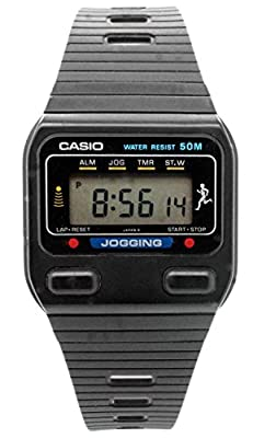 Casio J-31W-1 caucho, color negro