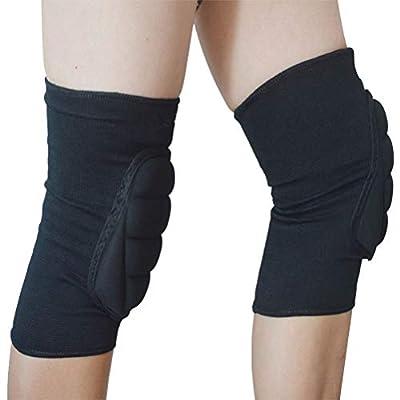 VORCOOL 1 Paar Knieschützer Knieschoner Knie Sleeve Brace Knie Unterstützung Guard Wraps für Sport Tanzen (schwarz)