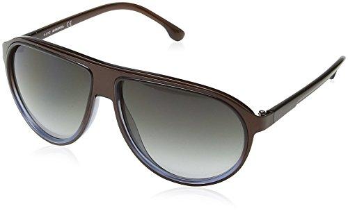 Diesel Unisex DL0058 Sonnenbrille, Brown & Blue Frame / Gradient Grey, Gr. One size