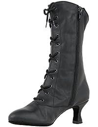 Rumpf bottines de Cancan 2316 bottines de danse bottines carnaval chaussures de caractère chaussures de danse noir