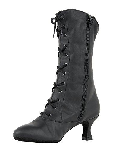 Rumpf Rumpf 2316 Cancan Tanz Stiefel Dance Boot Theater Bühnen Schuhe Shoes Boots schwarz Größe EU 34 / 2 UK