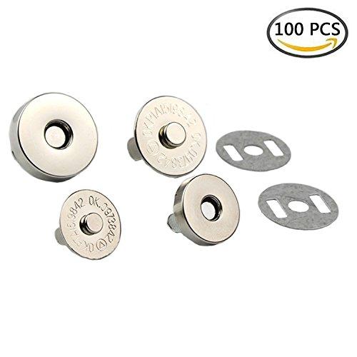 WLot 100 Stück Magnetverschluss Magnetknöpfe Magnetschließen ideal zum Nähen Basteln Kleidung...