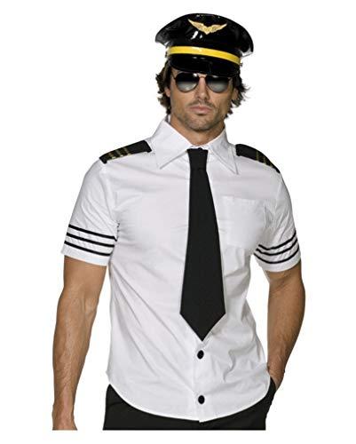 (Piloten Hemd mit Mütze für Herren L)