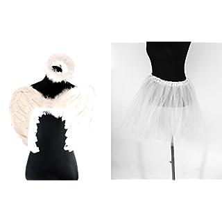 Zac's Alter Ego® Fancy Dress Angel Feather Halo, Wings & Tutu Set