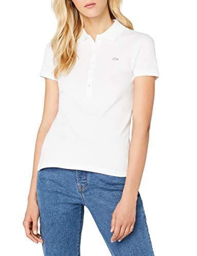 Lacoste Damen Poloshirt Pf7845 , Weiß (Blanc) , 36