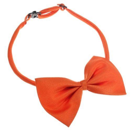 SODIAL (R) Hunde Katzen Haustier Fliege krawatte Halsschmuck Halsband Hundefliege Hundekrawatte dog Pet tie Necktie orange - 3