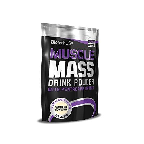 Muscle Mass Schokolade 1000g - Gainer für den Masseaufbau - BiotechUSA
