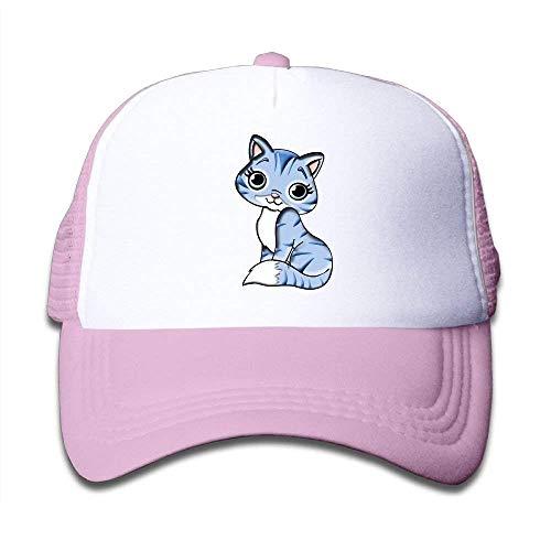 Netzkappe Baseballmütze Jungen & Mädchen Jugend Hysteresenhüte Kitty Cute New10