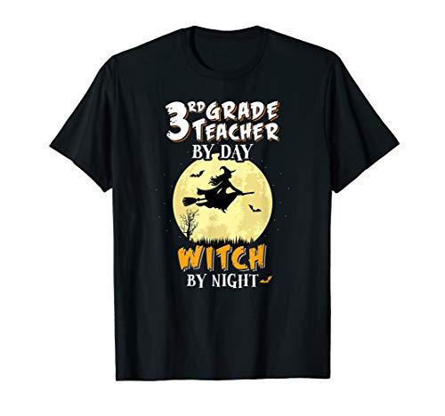 3 Klasse Lehrer Am Tag Hexa Bei Nacht T-Shirt Schule Lustig T-Shirt
