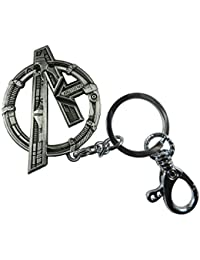 Techpro Metal Locking Keychain With Silver Colour Avengers Design