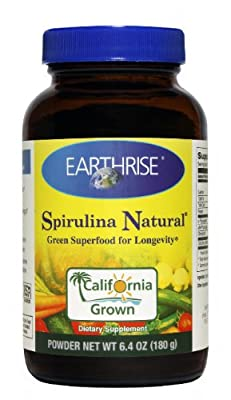 Earthrise, Spirulina Natural, Powder, 6.4 oz (180 g) from Earthrise
