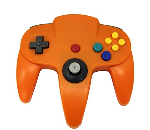 Orange Replacement Controller for Nintendo N64 by Mars Devices (Orange-nintendo 64 Controller)