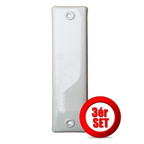 ► Gurtwicklerblende geschlossen Lochabstand 135 mm in Weiß ► 3 Stück -