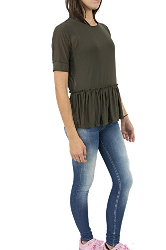 Only Onltribecca S/S Top Box Ess, Camicia Donna Verde (Black Olive)