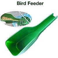 Janny-shop Alimentador de Pájaros Cuchara Jaula de Pájaros Fuente de Agua Dispositivo de Alimentación