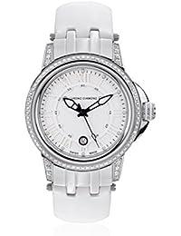 Chrono Diamond 82071_weiß-43 mm - Reloj para mujeres, correa de cuero color negro