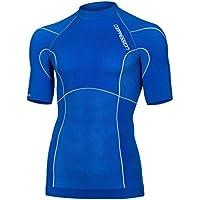 Compresión de compresión para hombre prendas transpirable la capa base de manga corta al aire libre khelos running, color  - azul, tamaño M