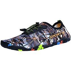 "Zapatos De Agua Zapatillas De Playa Verano Secado Rápido Zapatos De Agua Escarpines Zapatillas Calzado De Playa Hombre Mujer Zapatos De Agua para Buceo Jorich (Gris, EU:40 25cm/9.8"")"