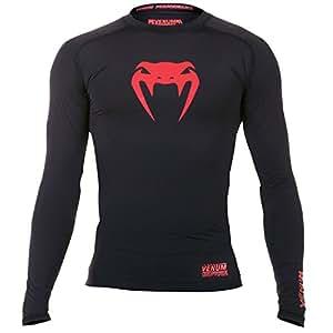 Venum Contender T-Shirt de compression Homme Noir/Rouge FR : XXL (Taille Fabricant : XXL)