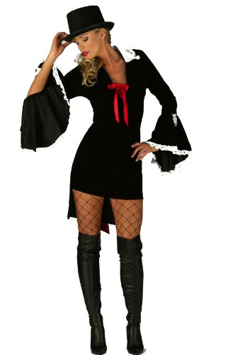 Mix lot Ladies, Frauen reizvolle Fräulein Vampire Gothic Halloween, Dress Up Parties Kostüm Größen: S / M / L / XL (Medium, Schwarz & Rot)