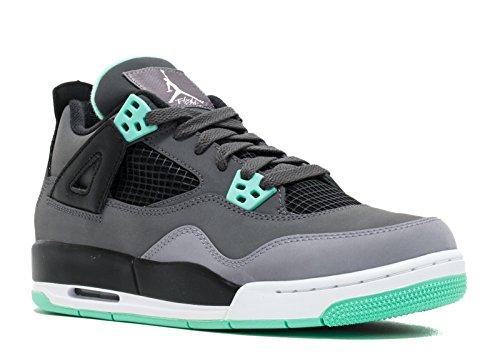 AIR JORDAN 4 RETRO (GS) 'GREEN GLOW' - 408452-033 - SIZE 7 (Air Nike Green Jordan Glow)