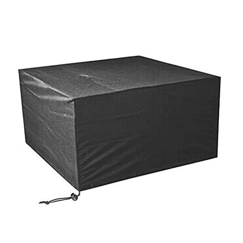 Elevavie Housse De Protection Pour Le Mobilier De Jardin poussière Patio Set couvercle (noir) (135x135x75cm/53.15x53.15x29.53inch)