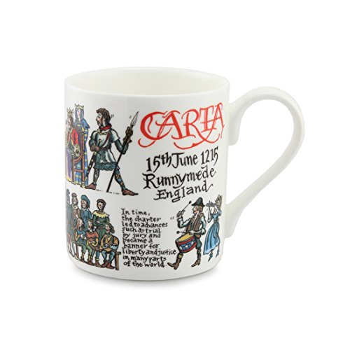 Educational Becher – Magna Carta – Fine Bone China – Standard Größe Kaffee/Tee/Hot Chocolate Mug/Cup – 8,5 cm