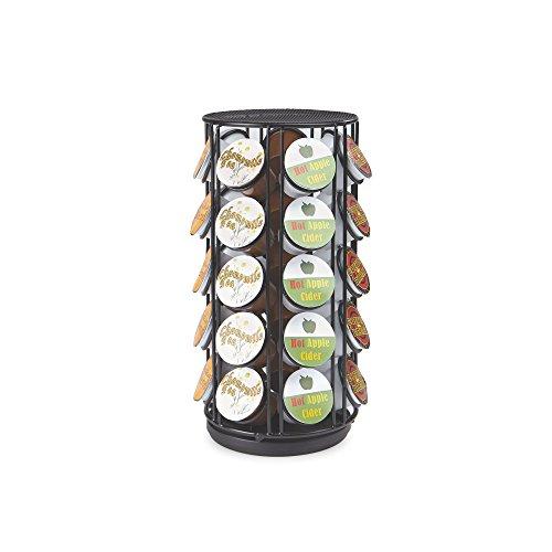 Mind Reader Rotating Carousel für 35 Dolce Gusto / Keurig K-Schale / Verismo / CBTL Kapseln, schwarzer Kaffee-Hülsen-Speicher