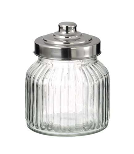 Used, Small Storage/Candy Jar with Silver Screw Top Lid by for sale  Delivered anywhere in Ireland