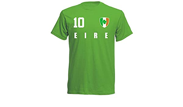 Irland WM 2018 T-Shirt Grün Trikot Fußball Nr ALL 10 Sport