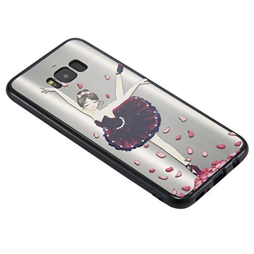 S8 Plus Hülle ,Samsung S8 Plus Shell Case , Galaxy S8 Plus Black Hülle, Cozy Hut® [Liquid Crystal] [Matte Black] [With Lanyard/Strap] Samsung Galaxy S8 Plus Ultra Slim Schutzhülle ,Anti-Scratch Shockp Ballett-Mädchen