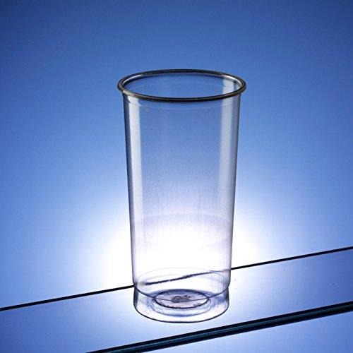 Bicchieri tumbler alti in plastica trasparente / slim jim / 340ml (12 oz) - pacco da 90