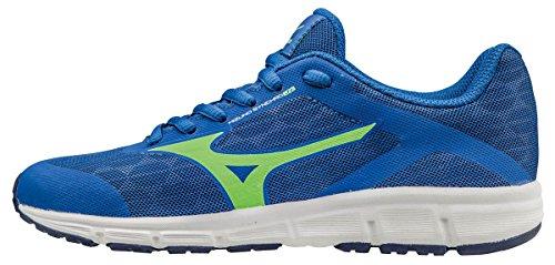 Mizuno Synchro Jnr Scarpe Running Bambino, Blu (Nautical Green Gecko/Blue Depths), 38.5 EU