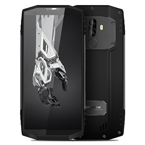 Blackview BV9000 Pro【FaceID & 6GB/128GB】2018 4G Smartphone,Outdoor Handy ohne Vertrag, 5.7 Zoll, Android 7.1, Helio P25 Octa-Core, 4180mAh mit Schnellladung, Dual Kameras, Dual SIM Dual Standby (Grau)